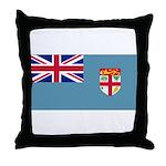 Fiji Fijian Blank Flag Throw Pillow