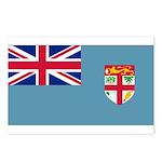 Fiji Fijian Blank Flag Postcards (Package of 8)