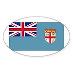 Fiji Fijian Blank Flag Oval Sticker