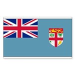 Fiji Fijian Blank Flag Rectangle Sticker