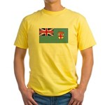Fiji Fijian Blank Flag Yellow T-Shirt