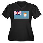 Fiji Fijian Blank Flag Women's Plus Size V-Neck Da