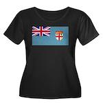 Fiji Fijian Blank Flag Women's Plus Size Scoop Nec