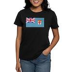 Fiji Fijian Blank Flag Women's Dark T-Shirt