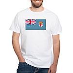 Fiji Fijian Blank Flag White T-Shirt