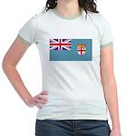 Fiji Fijian Blank Flag Jr. Ringer T-Shirt