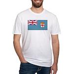 Fiji Fijian Blank Flag Fitted T-Shirt