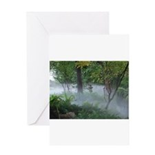 Asian Garden Fog Greeting Cards