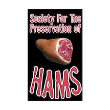 Society for Preservation Hams Sticker (Rectangular