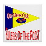 Old Mens Club Tile Coaster