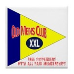 Old Mens Club Tile Coaster
