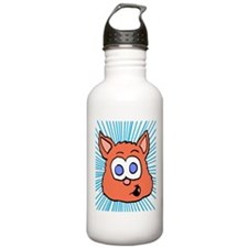 Orange Cat graphic Water Bottle