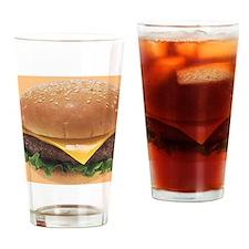 Burger Drinking Glass