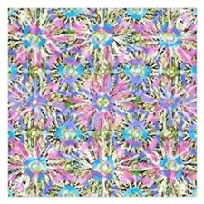 Pastel Bursts 1 5.25 x 5.25 Flat Cards