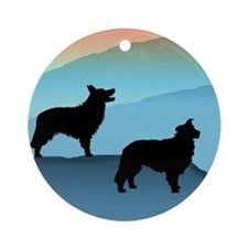 Blue Mt. Border Collies Ornament (Round)