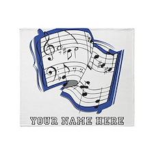Custom Sheet Music Throw Blanket