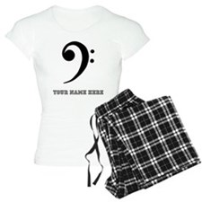 Custom Bass Clef Pajamas