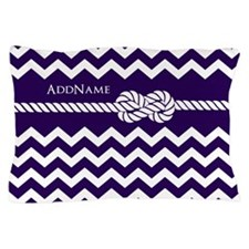 Violet Chevron Rope Personalized Pillow Case
