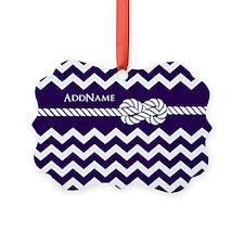 Violet Chevron Rope Personalized Ornament