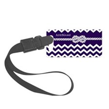 Violet Chevron Rope Personalized Luggage Tag