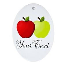 Personalizable Apples Ornament (Oval)