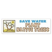 Plant Native Trees Bumper Sticker