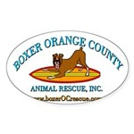 Boxer OC Rescue Oval Sticker