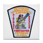 Ketchikan Airport Fire Tile Coaster