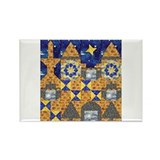 Castle Quilt Mural Rectangle Magnet