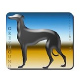 Silver Greyhound Mousepad