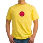 Peace Sign Yellow T-Shirt