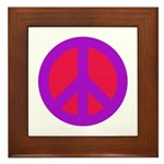 Peace Sign Framed Tile