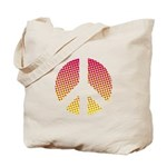 Halftone peace sign Tote Bag