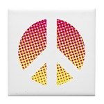 Halftone peace sign Tile Coaster