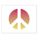 Halftone peace sign Small Poster