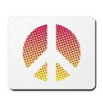 Halftone peace sign Mousepad