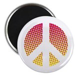 Halftone peace sign Magnet