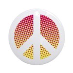 Halftone peace sign Ornament (Round)
