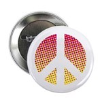 Halftone peace sign Button