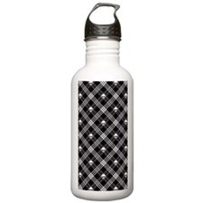 Gothic Skull Plaid Water Bottle