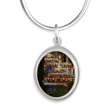 Cute Anglican church Silver Oval Necklace