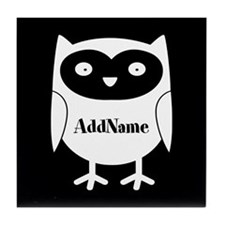 Cute Cartoon Owl Personalized Tile Coaster