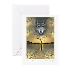 Wolf ~ 'Season's Greetings' Cards (10 Pack)