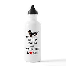 Funny Dachshund Design Water Bottle