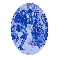 Blue Tiny Tim Oval Ornament