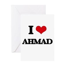 I Love Ahmad Greeting Cards