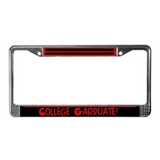 College Garduate License Plate Frame