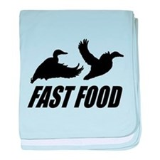 Fast food waterfowl baby blanket