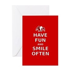 Have Fun Smile Often Greeting Card