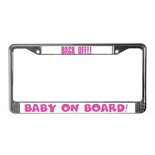 Pink Baby on Board License Plate Frame